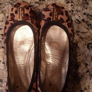 Kate Spade Calf Hair  Animal Print Bow Ballet Flat